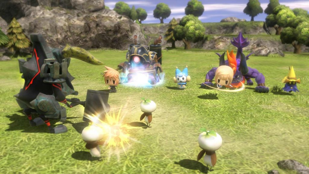 World of Final Fantasy Day One Edition gameplay