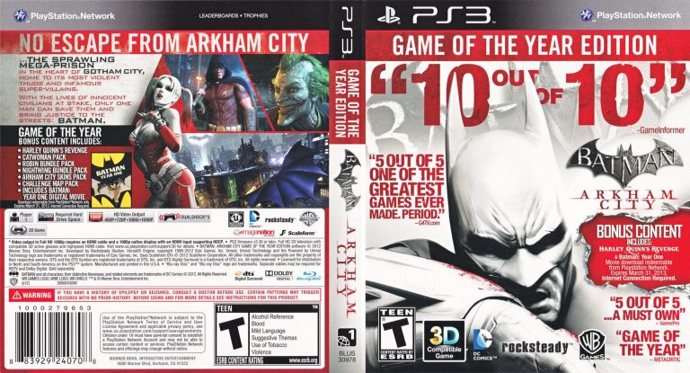 Batman Arkham city Game of the Year Edition cover