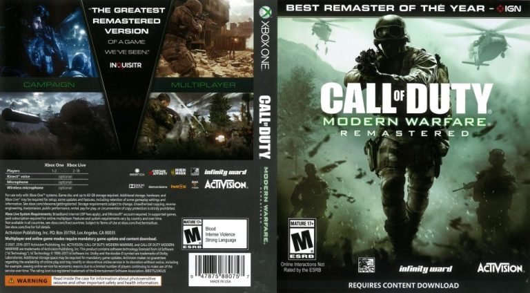 Call of Duty Modern Warfare Remastered cover