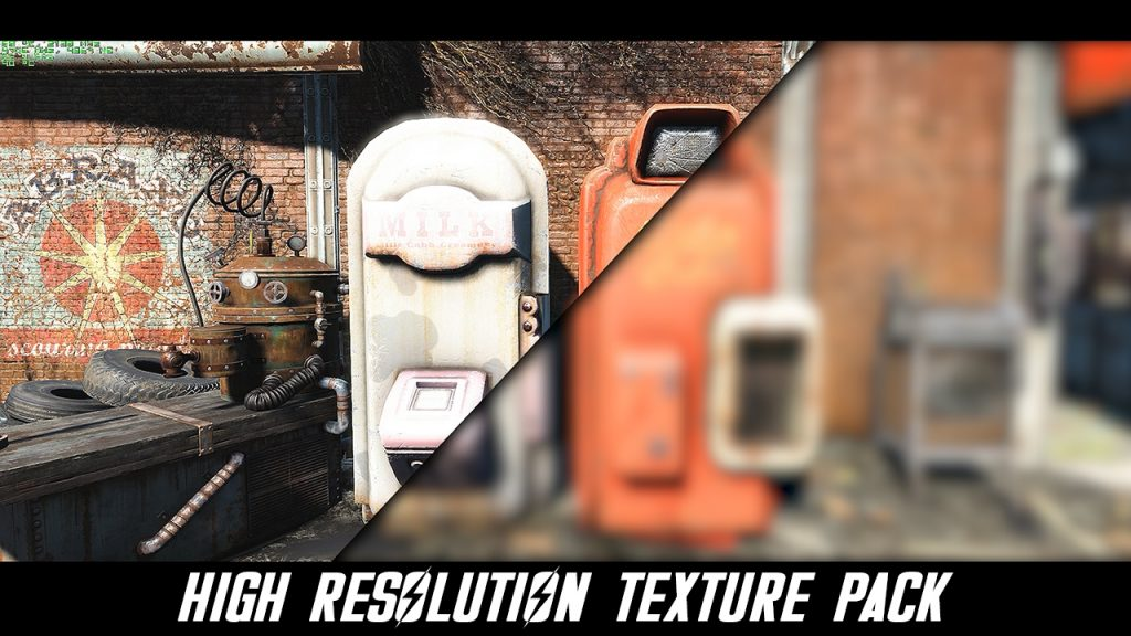 Fallout 4 High Resolution Texture Pack gameplay