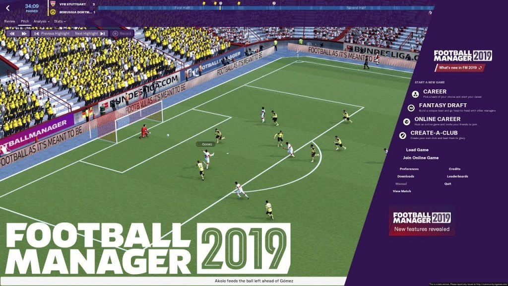 Football Manager 2019 gameplay2