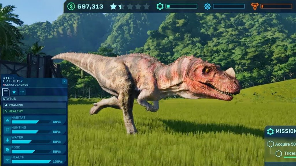 Jurassic World Evolution gameplay2