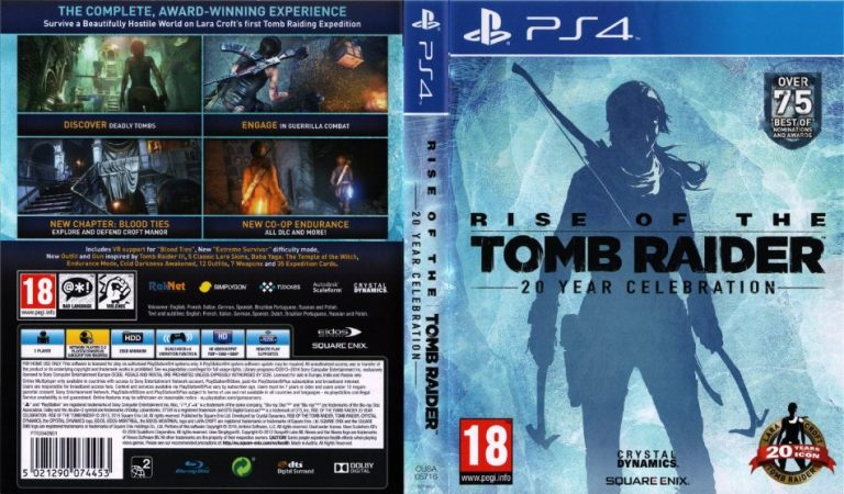 Rise of the Tomb Raider 20 Year Celebration cover