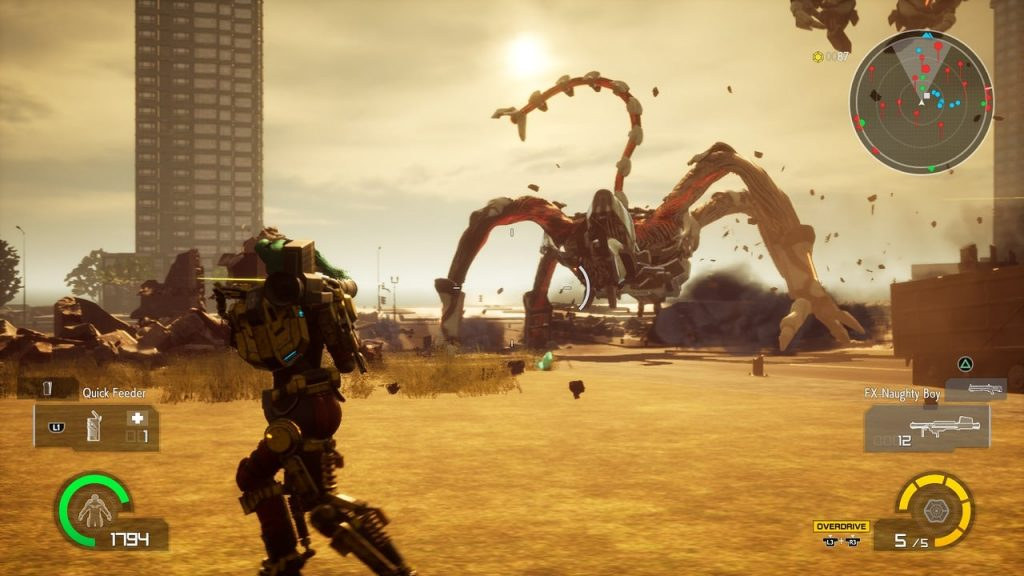 Earth Defense Force Iron Rain gameplay2