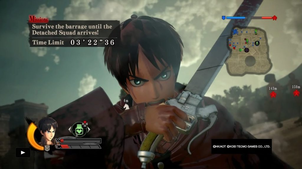 Attack on Titan A.O.T. Wings of Freedom gameplay