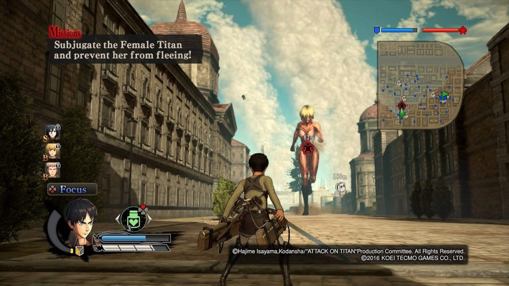 Attack on Titan A.O.T. Wings of Freedom gameplay2