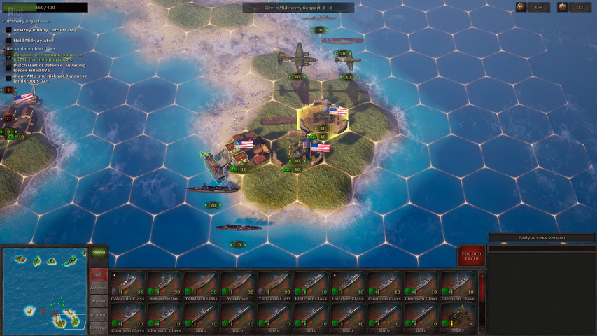 Strategic Mind The Pacific gameplay
